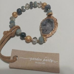 💎 NWT Electroplated Natural Raw Stone Bracelet